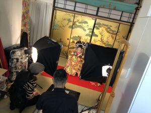 湯房蔵屋JOB(女の子求人)サイト_花魁撮影同行_スタジオでの脱ぎ撮影開始